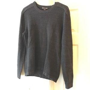 MICHEAL KORS Womens Dark Ash Knit Crewneck Sweater